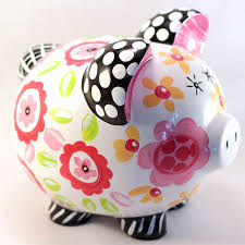 Personalized Silver Piggy Bank Personalized Ceramic Piggy Bank Black Pink U0026 Yellow Piggy