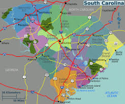 Map Of North And South Carolina Large Regions Map Of South Carolina State South Carolina State