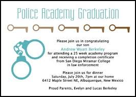 academy graduation invitations 14 best criminal justice enforcement graduation announcements