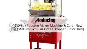 paramount 6oz popcorn maker machine color red youtube