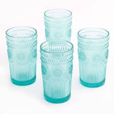 the pioneer woman adeline 16 ounce emboss glass tumblers set of 4