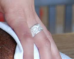 thick wedding bands wide wedding band etsy