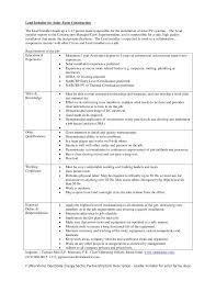 Resume For The Job by Job Description Leader Installer For Solar Farms