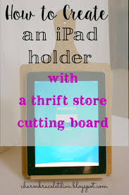 our hopeful home diy ipad stand from thrift store cutting board diy ipad stand using a thrift store cutting board