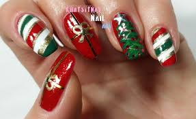 nail art nail art for christmas designs beginnerschristmas short