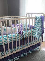 chevron girls bedding nursery beddings baby bedding sets purple and teal in