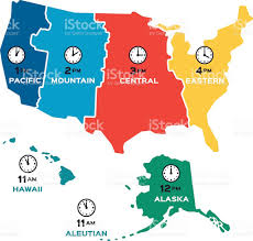 United States Vector Map by Usa Time Zone Map With States With Cities With Clock With Find