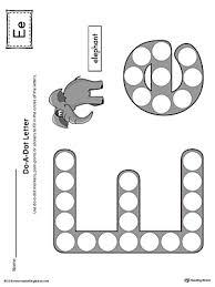 letter e do a dot worksheet color myteachingstation com