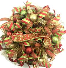 christmas mesh wreaths christmas wreaths for front door