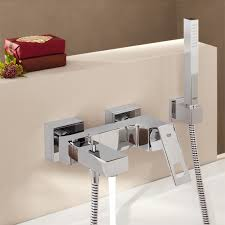 grohe eurocube grohe eurocube wall mounted single lever bath mixer with shower