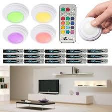 sharper image wireless remote led puck lights 6 led puck lights w remote control plus batteries wireless no