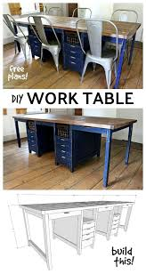 multipurpose table with storage diy multipurpose work table with storage free plans home office