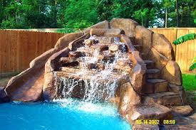 furniture foxy waterfall for swimming pool backyard design ideas