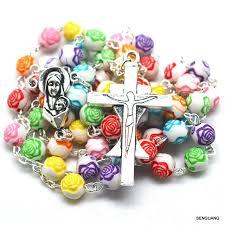 petal rosary catholic petal rosary religious colorful flower