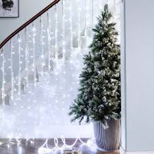 6ft frosted finley pre lit led christmas tree lights4