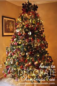 christmas tree decorating ideas mesh ribbon how to decorate