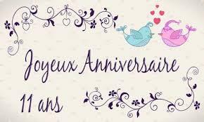 11 ans de mariage carte anniversaire mariage 11 ans oiseau