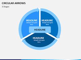 circular arrows powerpoint template sketchbubble
