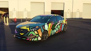galaxy car wrap hyundai sonata art car u2014 incognito wraps
