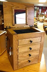 Dresser Top Jewelry Armoire Flush Mission Dresser Top Jewelry Armoire Amish Traditions Wv