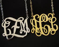 2 inch monogram necklace 1 1 5 2 inch monogram necklace for personalized necklace 18k