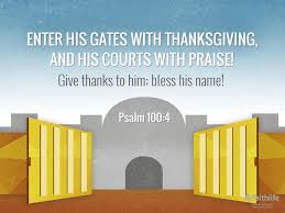 psalm 100 4 5