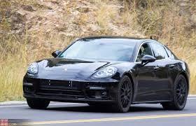 porsche panamera 2016 black next gen porsche panamera spied high country testing