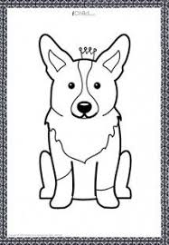 corgi puppy art coloring pages corgi k9