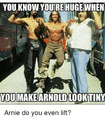 Do You Even Lift Meme - you know yourrehuge when you makearnoldlooktiny arnie do you even