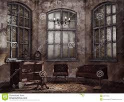 Vintage Livingroom Old Vintage Living Room Stock Illustration Image 40279840