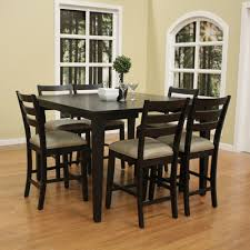 7 piece counter height dining room sets buy este 7 piece counter height dining set finish brown