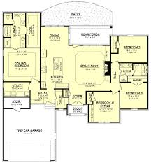 clear creek ii house plan open layout bedrooms and house