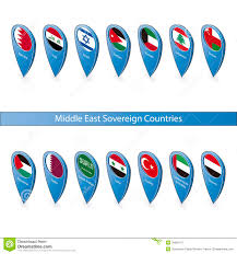 Pin Flags Pin Flags Of The Middle East Sovereign Countries Stock