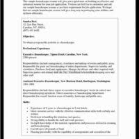 Housekeeper Resume Sample by Professional Housekeeper Room Attendant Resume Sample For Hotel