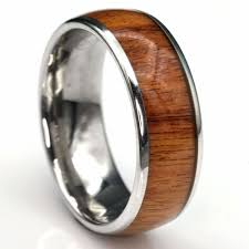 manly wedding bands the conquerer tungsten w titanium plating koa wedding band