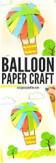 air balloon paper craft easy peasy and fun