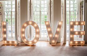 large light up letters light up your love tie the knot scotland