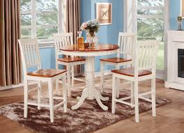 5 piece counter height dining set high table and 4 kitchen chairs