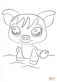 littlest pet shop pig coloring page free printable coloring pages