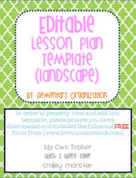 editable and customizable lesson plan template