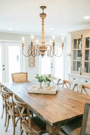 fixer upper dining table in place of the original dark and dated kitchen chip and jo