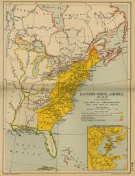 North Anerica Map Of Eastern North America 1812