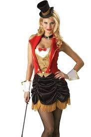 Circus Halloween Costume Red Fashioned Magician Halloween Circus Costume Costume