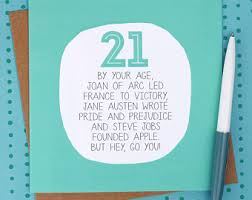 21 Birthday Card Design 21st Birthday Card Etsy