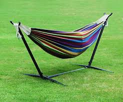 homedex 9 u0027 denim double hammock with space saving steel stand review