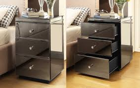 Mirrored Bedside Tables Rio Mirrored Bedside Tables U0026 Console Package Mirror Furniture