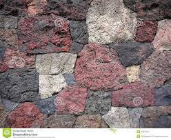 garden scoria lava rock wall stock image image of rugged