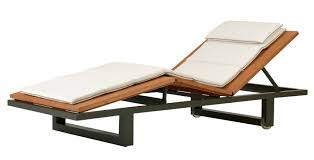 Sutherland Outdoor Furniture Contemporary Chaise Longue Wooden Indoor Garden Peninsula
