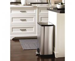 interior simplehuman trash cans stainless steel with modern