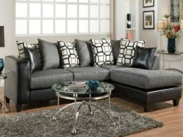 glamorous charcoal gray sectional sofa with chaise lounge 40 in
